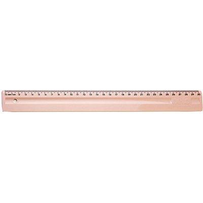 Régua em poliestireno 30 cm rosa claro Dello PT 1 UN