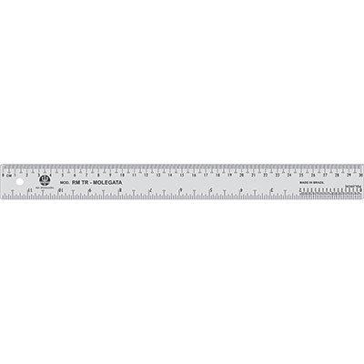Régua 30cm transparente flexível RM/TR-30 Trident PT 1 UN
