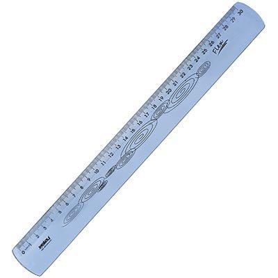 Régua 30cm azul flexível Waleu PT 1 UN