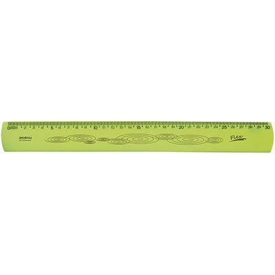 Régua 30cm amarela flexível 10270053 Waleu PT 1 UN
