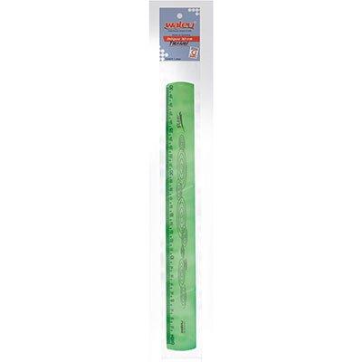 Régua 30cm neon verde flexível 10270054 Waleu PT 1 UN