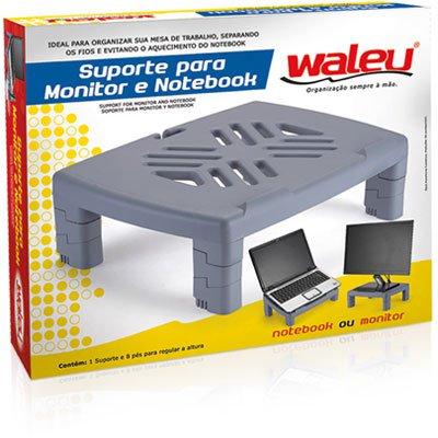 Suporte p/monitor retangular cinza Waleu CX 1 UN