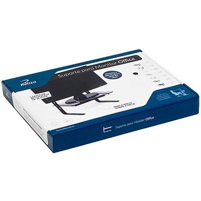 Suporte p/monitor preto c/tampo de vidro fumê 1203002/01 Reliza CX 1 UN