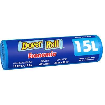 Saco para lixo 15lt azul economia 340003829 Dover RL 60 UN
