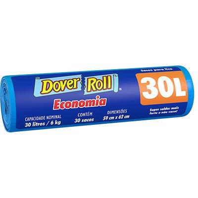 Saco para lixo 30lt azul economia 340003836 Dover RL 30 UN