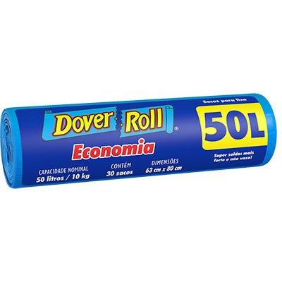 Saco para lixo 50lt azul economia 340003843 Dover RL 30 UN