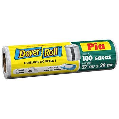 Saco para lixo de pia branco dover roll 27x30cm Dover RL 100 UN