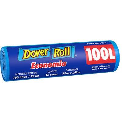 Saco para lixo 100lt azul economia 340003850 Dover PT 15 UN