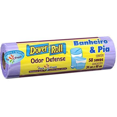 Saco para lixo banheiro e pia Odor defense Dover RL 50 UN