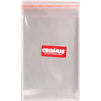 Saco c/aba adesivada transparente 10x15cm 051716 Cromus PT 100 UN