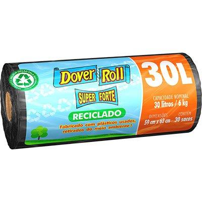 Saco para lixo 30lt super forte reciclado preto Dover RL 30 UN