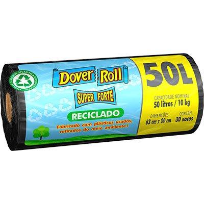 Saco para lixo 50lt super forte reciclado preto Dover RL 30 UN