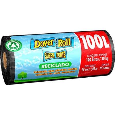Saco para lixo 100lt super forte reciclado preto Dover RL 15 UN