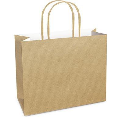 Sacola para presente papel horizontal 22x30x9cm kraft 14000446 Cromus PT 10 UN