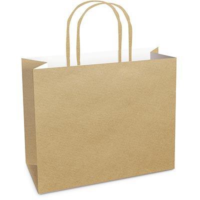 Sacola para presente papel horizontal 28x38x12cm kraft 14000447 Cromus PT 10 UN