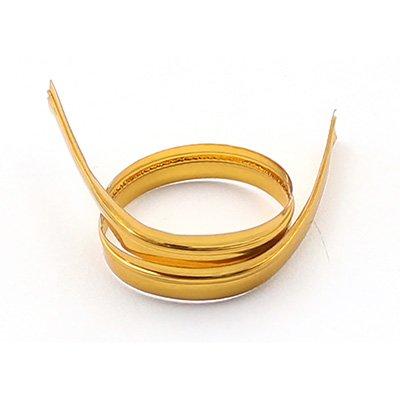 Fecho prático  aramado 4x11cm brilhante dourado Indústria e Comercio PT 100 UN