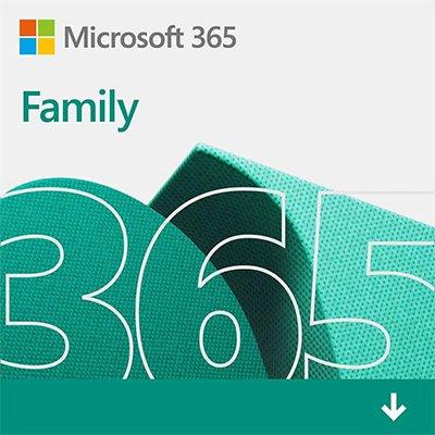 Microsoft 365 Family: 1 licença para até 6 usuários - Word, Excel, PowerPoint, Outlook + 1TB de HD Virtual para cada Usuário - Assinatura 15 meses - DOWNLOAD - Microsoft - UN 1 UN