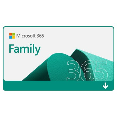 Microsoft 365 Family: 1 licença para até 6 usuários - Word, Excel, PowerPoint, Outlook + 1TB de HD Virtual para cada Usuário - Assinatura Anual - DOWNLOAD - Microsoft UN 1 UN