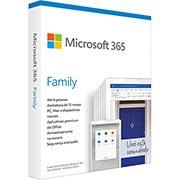 Microsoft 365 Family: 1 licença p/ até 6 usuários - Word, Excel, PowerPoint, Outlook + 1TB de HD Virtual para cada Usuário - Assinatura Anual CX 1 UN