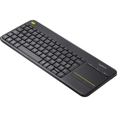 Teclado sem fio Logitech K400 Plus TV com Touchpad Integrado, Conexão USB Unifying e Layout ABNT2 CX 1 UN