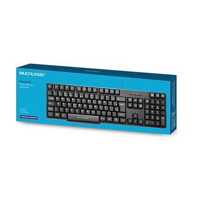 Teclado ps2 slim preto TC225 Multilaser CX 1 UN