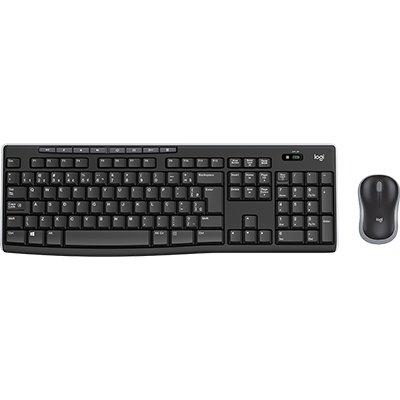 Kit wireless Combo Teclado e Mouse sem fio Logitech MK270 com Teclas de Mídia de Fácil Acesso, Conexão USB, Pilhas Inclusas e Layout ABNT2 CX 1 UN