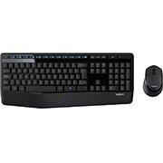 Kit wireless Combo Teclado e Mouse sem fio Logitech MK345 com Teclado com Apoio para as Mãos e Mouse Destro - Conexão USB, Pilhas Inclusas e Layout ABNT2 CX 1 UN