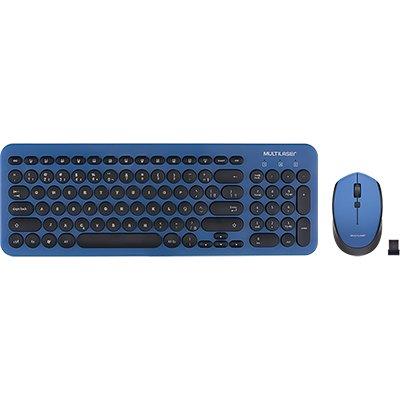 Kit multimidia (teclado/mouse) s/ fio pt/az TC233 Multilaser CX 1 UN
