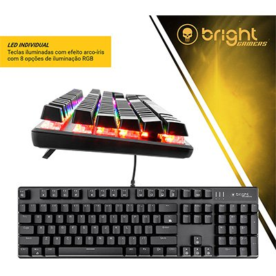 Teclado USB Gamer Basic GTC560 Bright PT 1 UN