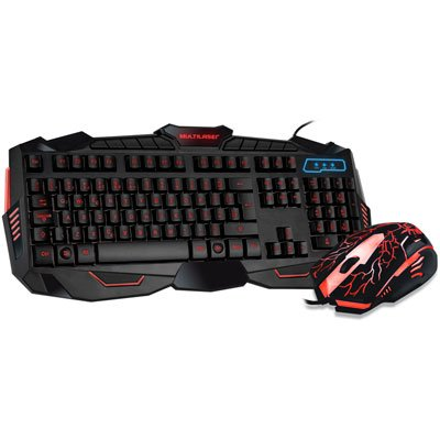Kit Gamer Lightning (Mouse/Teclado) TC195 Multilaser CX 1 UN