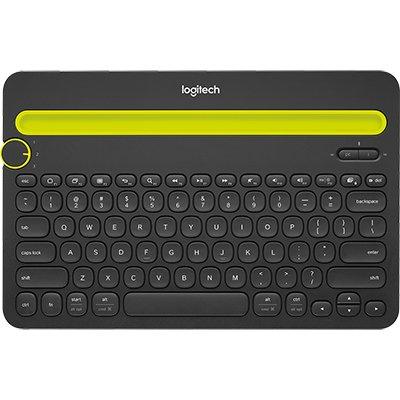Teclado sem fio Logitech K480 com Suporte Integrado para Smartphone e Tablet, Conexão Bluetooth para até 3 dispositivos e Pilha Inclusa CX 1 UN
