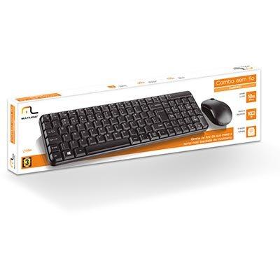 Kit wireless multimidia (mouse/teclado) TC183 Multilaser CX 1 UN