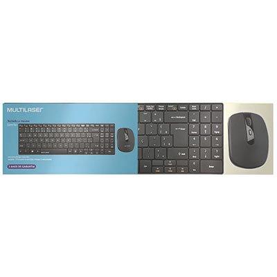 Kit wireless multimidia (teclado/mouse) TC202 Multilaser CX 1 UN