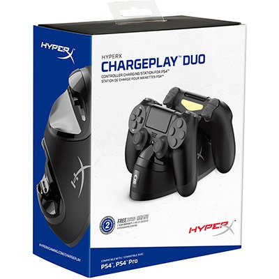 Carregador de Controle Playstation 4 / PS4 Charge Play Duo HyperX CX 1 UN