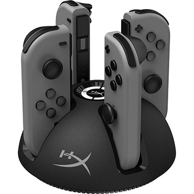 Carregador de controle Nintendo Switch Charge Play Quad HyperX CX 1 UN