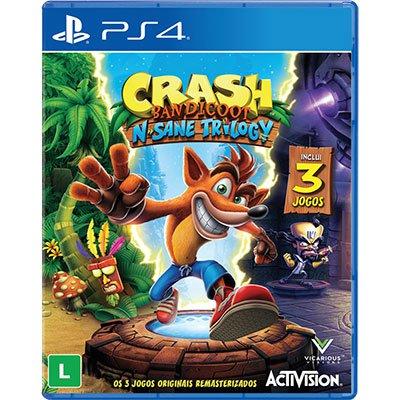 Jogo Crash Bandicoot N Sane Trilogy PS4 Activision PT 1 UN