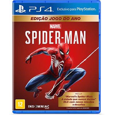 Jogo Marvels Spider-Man PS4 - Jogo do Ano Sony UN 1 UN