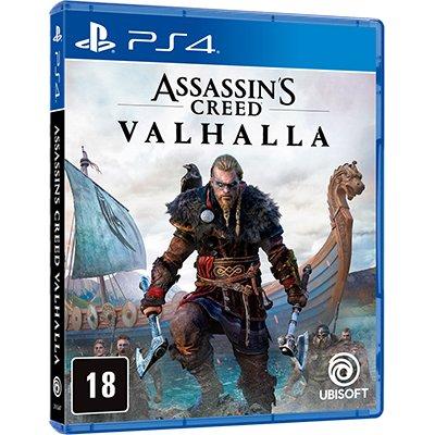 Jogo Assassins Creed Valhalla Ed.BR PS4 Ubisoft CX 1 UN