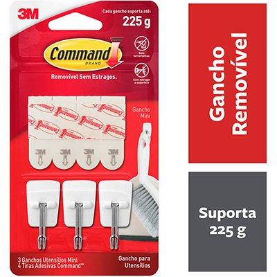 Gancho Adesivo 3M Command até 225g Utensílios de Cozinha BT 3 UN