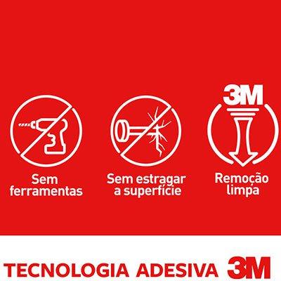 Gancho Adesivo Command 3M até 225g utensílio transparente  PT 3 UN