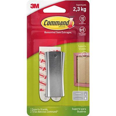 Suporte Adesivo Metalizado para Quadros 3M Command até 2,3kg - Tamanho Médio BT 1 UN