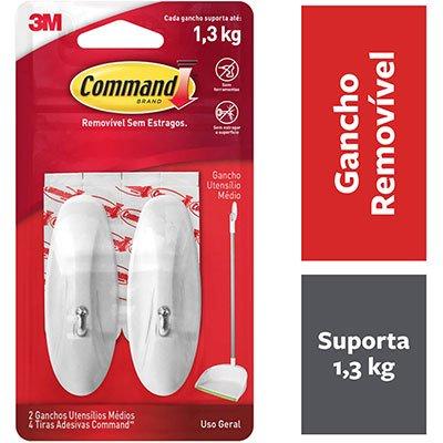 Gancho Adesivo Command 3M até 1,3kg branco HB00413160 - tamanho médio PT 2 UN
