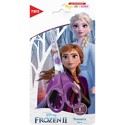 Tesoura escolar 13cm Frozen 679235 Tris BT 1 UN