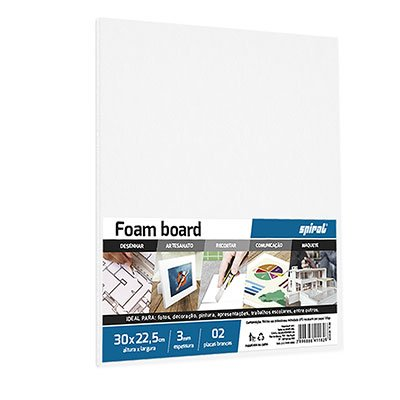 Placa Foam 30cmx22,5cmx3mm branca Spiral PT 2 UN