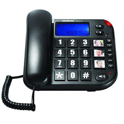 Telefone c/identificador de chamadas Tok Fácil Intelbras CX 1 UN