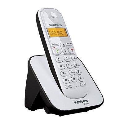 Telefone s/ fio Dect 6.0  c/ identificador de chamadas preto/branco TS3110 Intelbras CX 1 UN