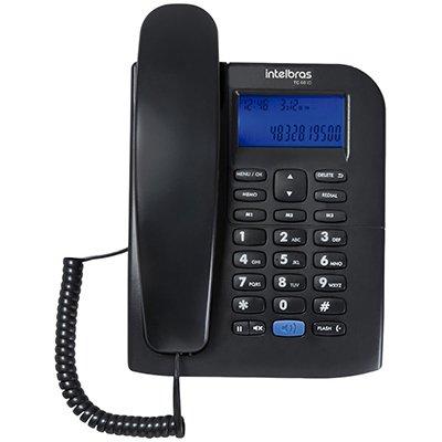 Telefone c/identificador de chamadas preto TC60ID Intelbras CX 1 UN