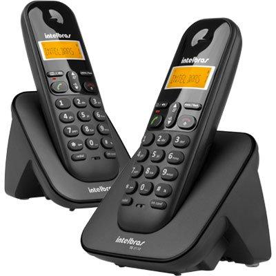 Telefone s/ fio Dect 6.0 c/ identificador de chamadas + ramal preto TS3112 Intelbras CX 1 UN