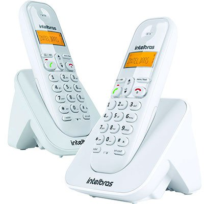 Telefone s/ fio Dect 6.0 c/ identificador de chamadas + ramal branco TS3112 Intelbras CX 1 UN
