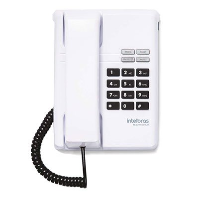Telefone de mesa premium branco TC50 Intelbras PT 1 UN